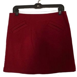 Willi Smith Red wool mini skirt size 2